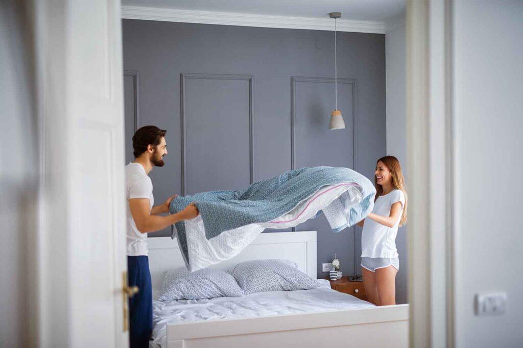 rifare il letto pulire