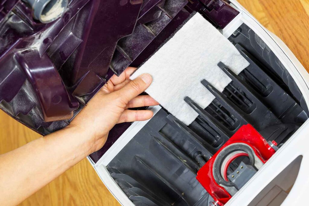 pulire filtri aspirapolvere