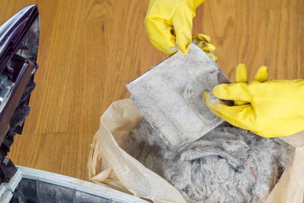 pulizia aspirapolvere