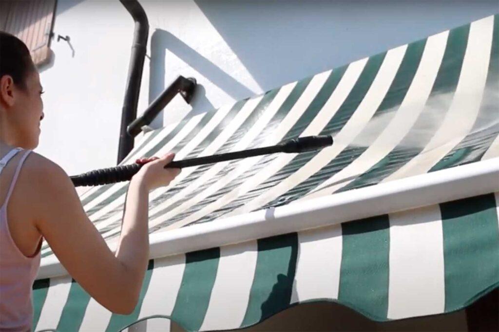 lavare tende da sole con idropulitrice